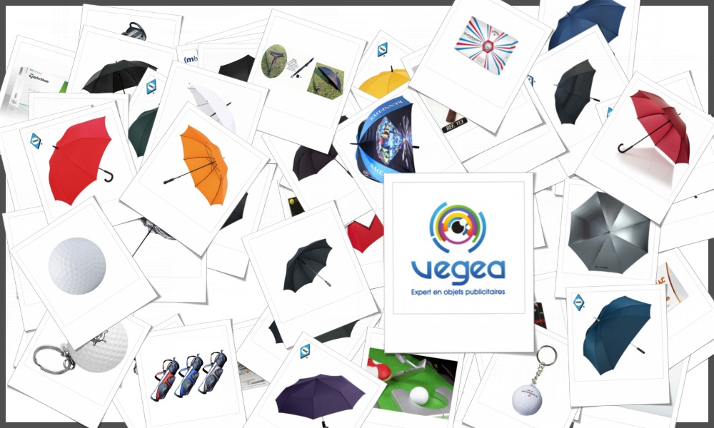 Sélection d'accessoires de golf personnalisables à votre effigie avec votre logo ou un  texte