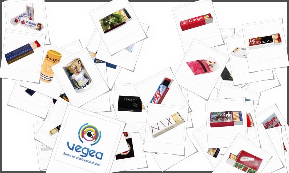 Boîtes d'allumettes personnalisables à votre effigie avec un logo, un texte ou une image | Grossiste et fabrication d'objets publicitaires et cadeaux d'entreprise