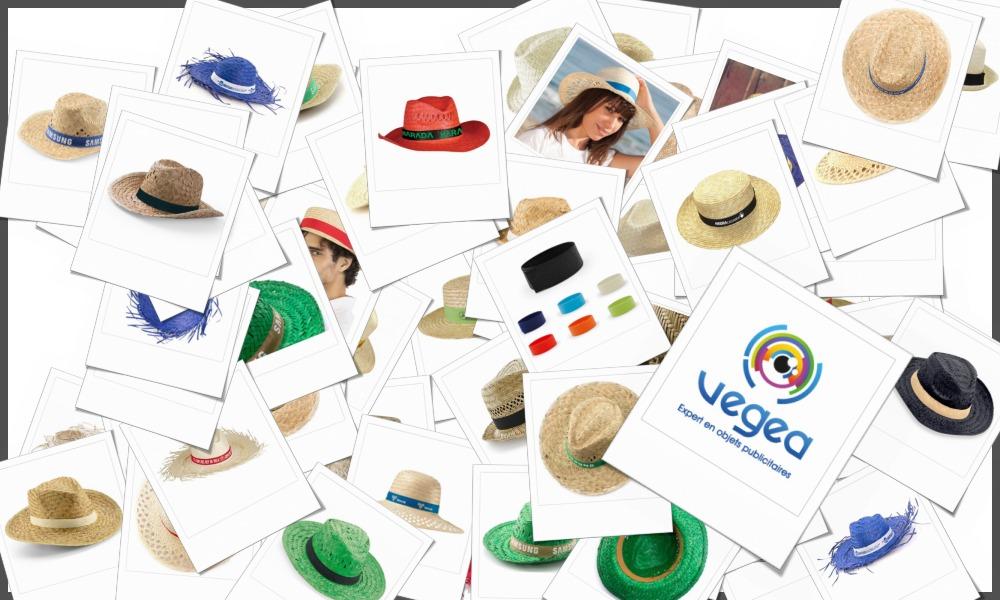 Chapeaux de paille personnalisables à votre effigie avec un logo, un texte ou une image
