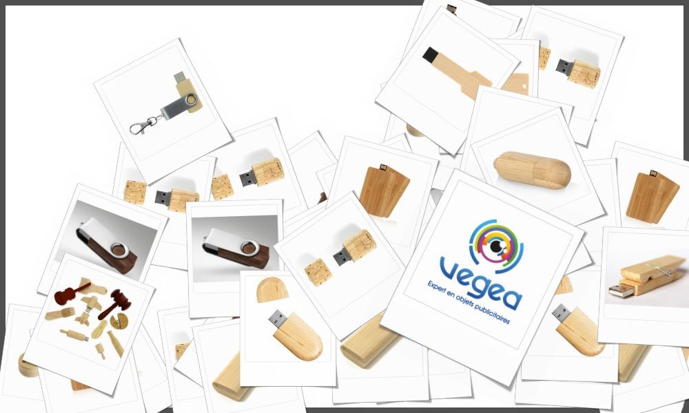 Clés usb en bois personnalisables à votre effigie avec un logo, un texte ou une image