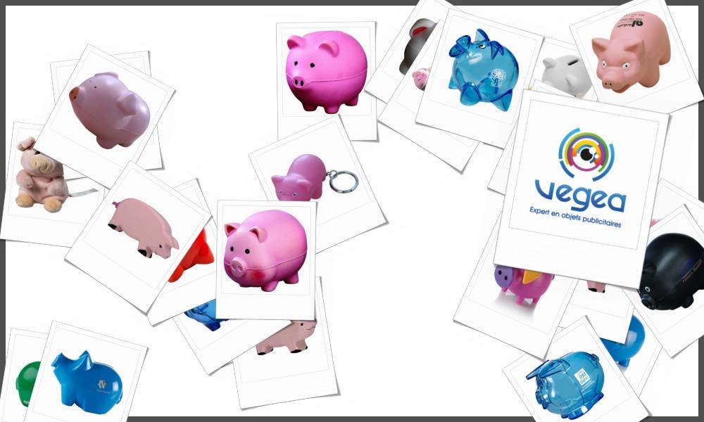 Cochons personnalisables à votre effigie avec un logo, un texte ou une image | Grossiste et fabrication d'objets publicitaires et cadeaux d'entreprise