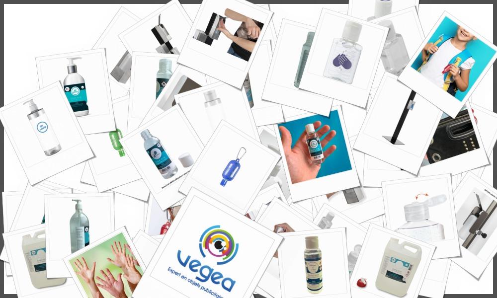 Flacons de gel antibactérien pour mains personnalisables à votre effigie avec un logo, un texte ou une image | Grossiste et fabrication d'objets publicitaires et cadeaux d'entreprise