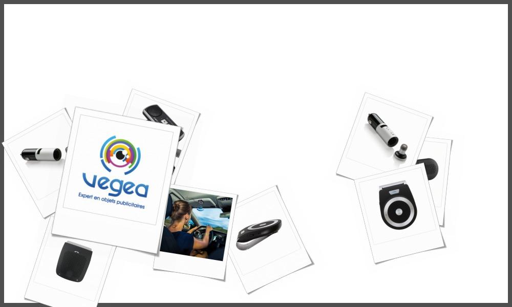 Kits téléphone main libre blue tooth personnalisables à votre effigie avec un logo, un texte ou une image | Grossiste et fabrication d'objets publicitaires et cadeaux d'entreprise