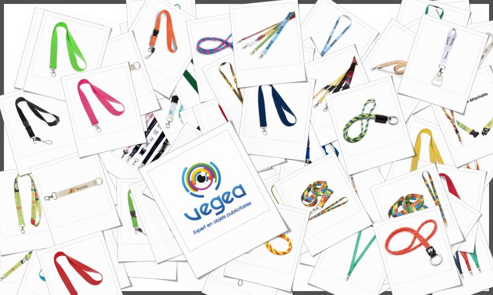 Lanyards et cordons tour de cou sur-mesure personnalisables à votre effigie avec un logo, un texte ou une image | Grossiste et fabrication d'objets publicitaires et cadeaux d'entreprise