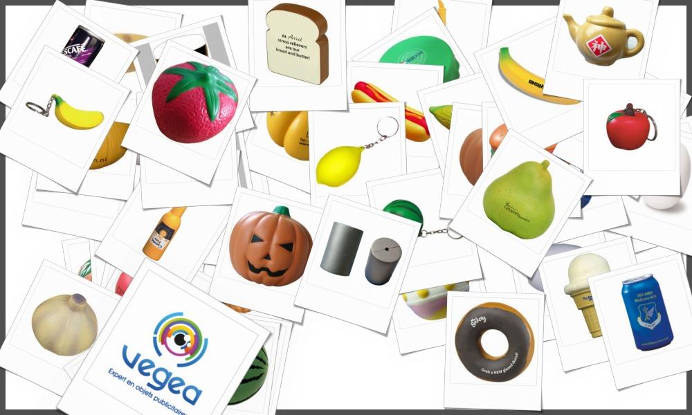 Nourritures et aliments en mousse antistress personnalisables à votre effigie avec un logo, un texte ou une image | Grossiste et fabrication d'objets publicitaires et cadeaux d'entreprise