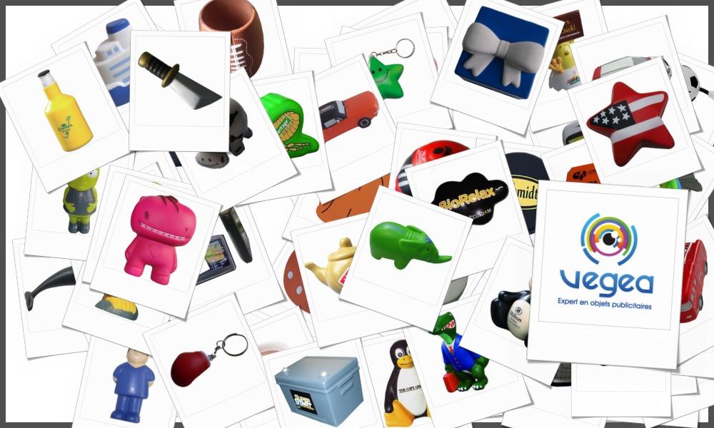Objets en mousse anti-stress personnalisables à votre effigie avec un logo, un texte ou une image | Grossiste et fabrication d'objets publicitaires et cadeaux d'entreprise