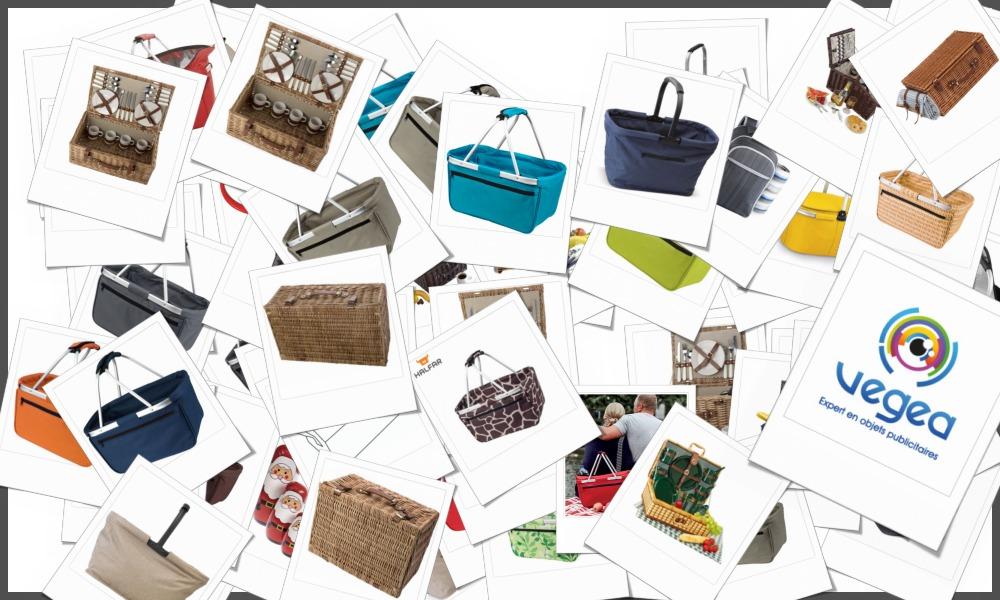 Paniers pique-nique personnalisables à votre effigie avec un logo, un texte ou une image   Grossiste et fabrication d'objets publicitaires et cadeaux d'entreprise