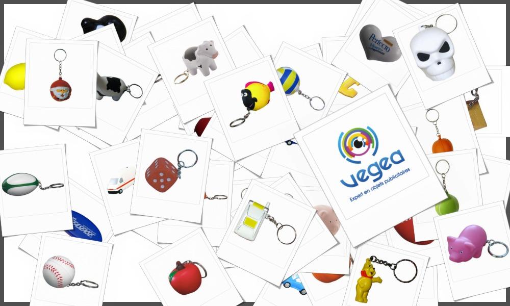 Porte-clés anti-stress en mousse personnalisables à votre effigie avec un logo, un texte ou une image