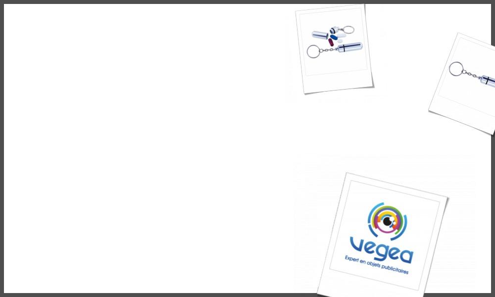 Porte-clés piluliers personnalisables à votre effigie avec un logo, un texte ou une image | Grossiste et fabrication d'objets publicitaires et cadeaux d'entreprise