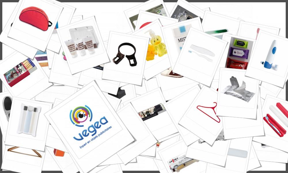 Sélection de produits d'accueil pour hôtels, personnalisables à votre effigie avec un logo ou un texte.