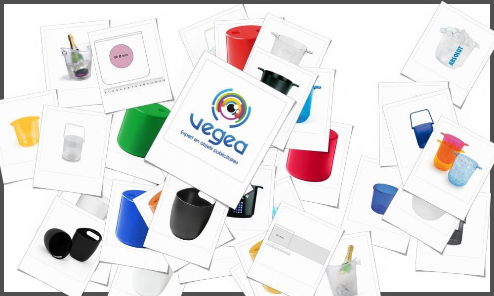 Seaux à glace personnalisables à votre effigie avec un logo, un texte ou une image | Grossiste et fabrication d'objets publicitaires et cadeaux d'entreprise