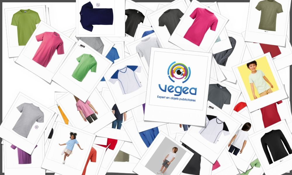 Tee-shirts enfants personnalisables à votre effigie avec un logo, un texte ou une image | Grossiste et fabrication d'objets publicitaires et cadeaux d'entreprise