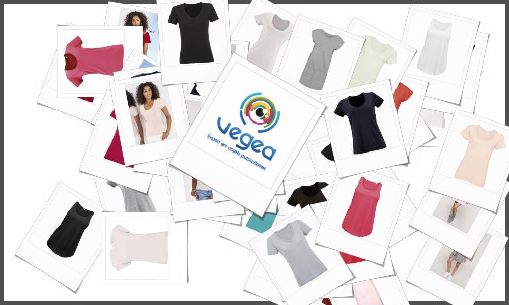 Tee-shirts femmes personnalisables à votre effigie avec un logo, un texte ou une image | Grossiste et fabrication d'objets publicitaires et cadeaux d'entreprise