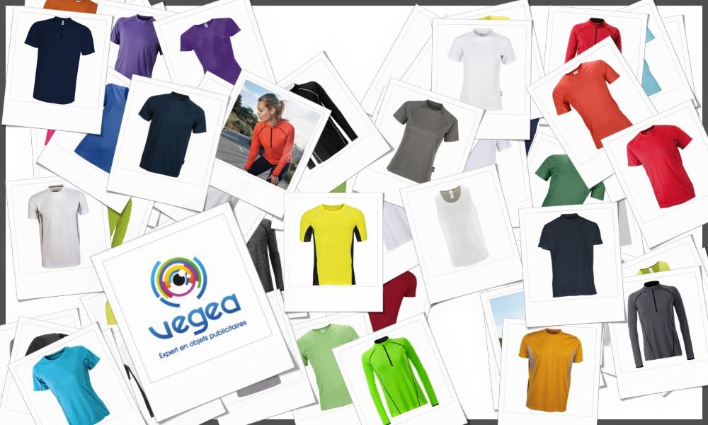 Tee-shirts respirants et tee-shirts techniques en polyester personnalisables à votre effigie avec un logo, un texte ou une image   Grossiste et fabrication d'objets publicitaires et cadeaux d'entreprise