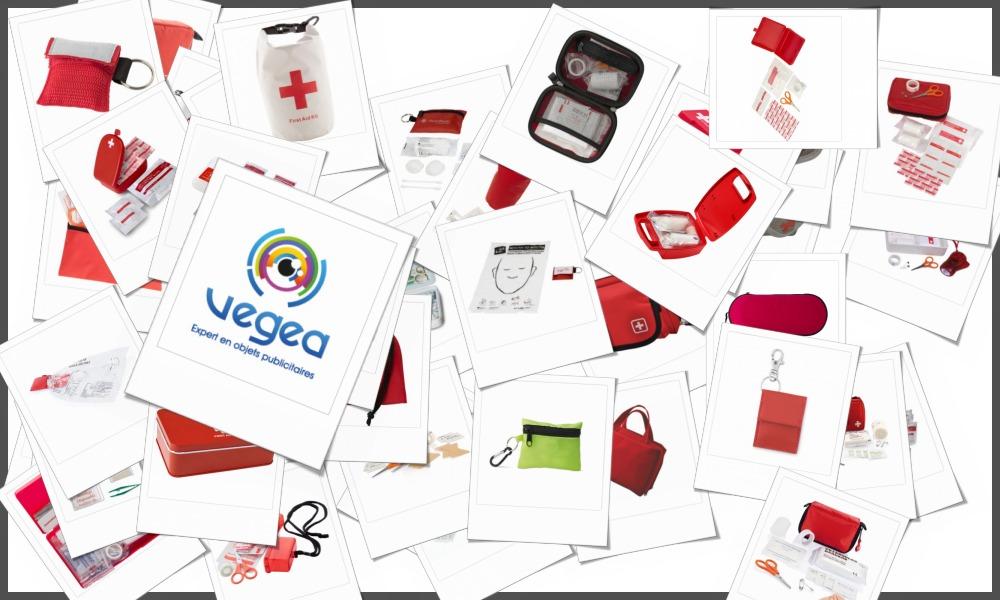 Trousses pharmacie de secours personnalisables à votre effigie avec un logo, un texte ou une image | Grossiste et fabrication d'objets publicitaires et cadeaux d'entreprise