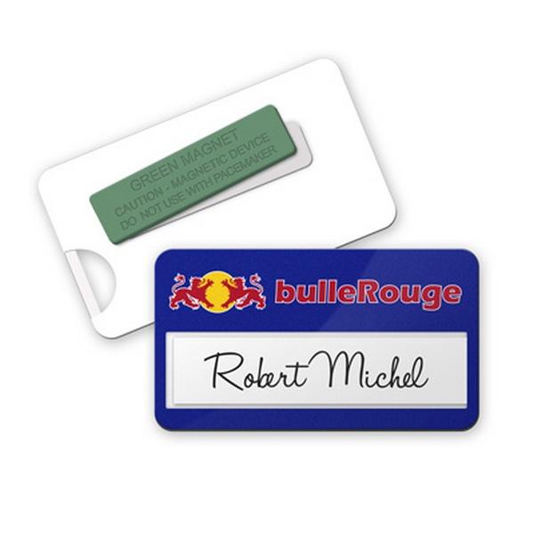 Super Badge aimanté publicitaire personnalisé | Sur-mesure EQ88