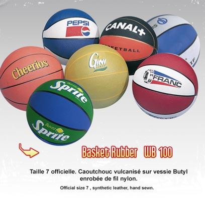 Ballons de basket avec logo