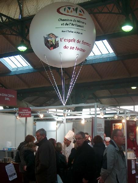 Sphères gonflables avec logo