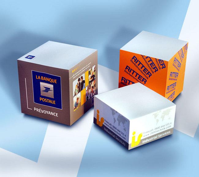 Bloc-notes cubes publicitaire