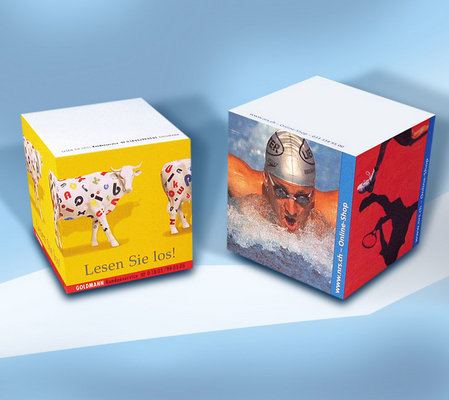 Bloc-notes cubes promotionnel