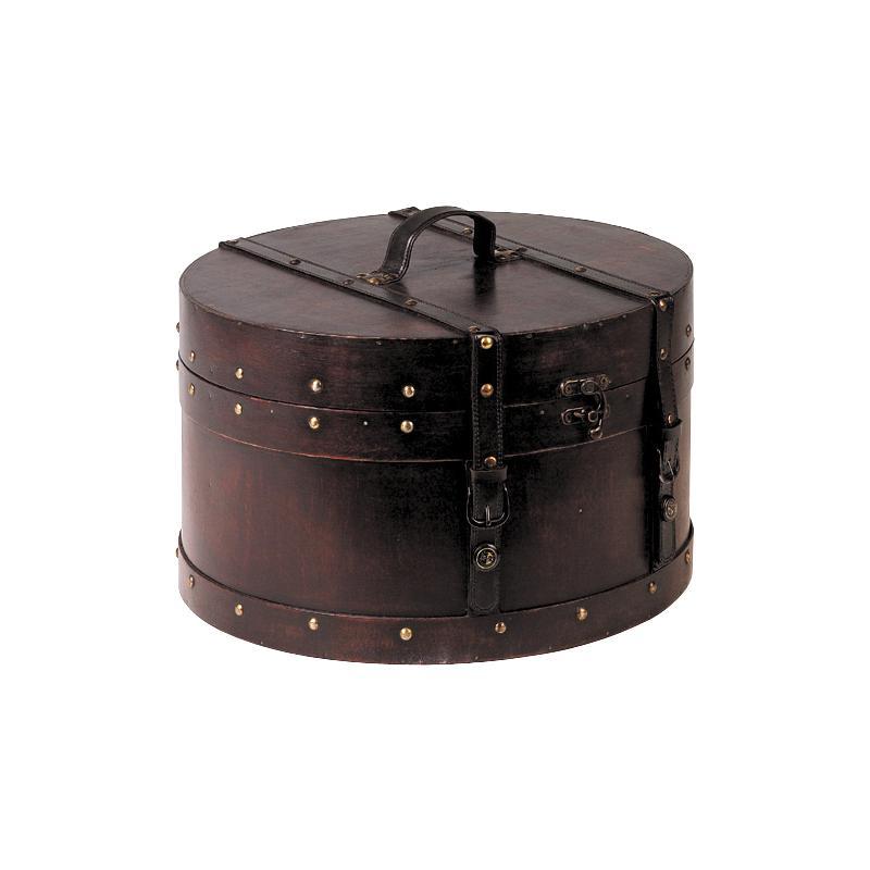 Boite bois simili cuir d40 personnalisable for Boite couture bois ancienne
