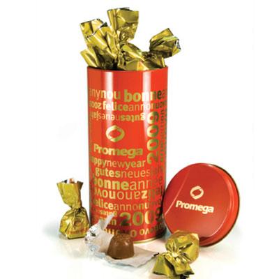 Ballotins et boîtes de chocolats publicitaire