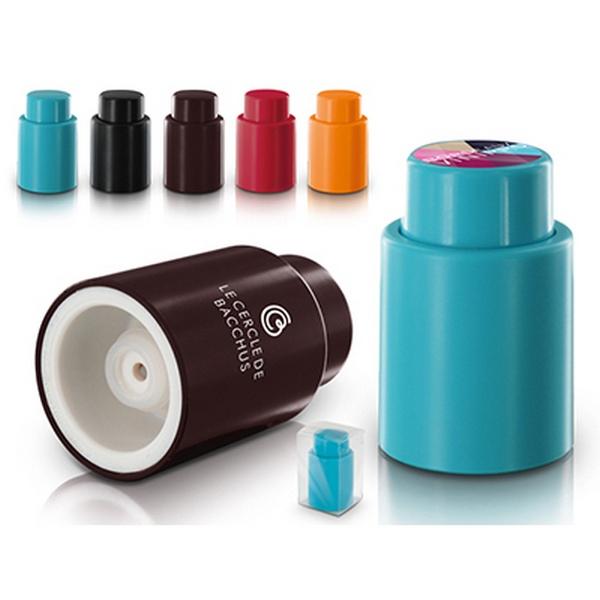 bouchon de bouteille avec pompe vide d 39 air personnalisable. Black Bedroom Furniture Sets. Home Design Ideas