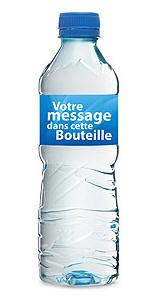 Bouteilles d'eau avec personnalisation