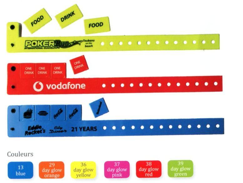Bracelets coupon ticket personnalisé