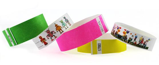 Bracelets en tyvek avec personnalisation