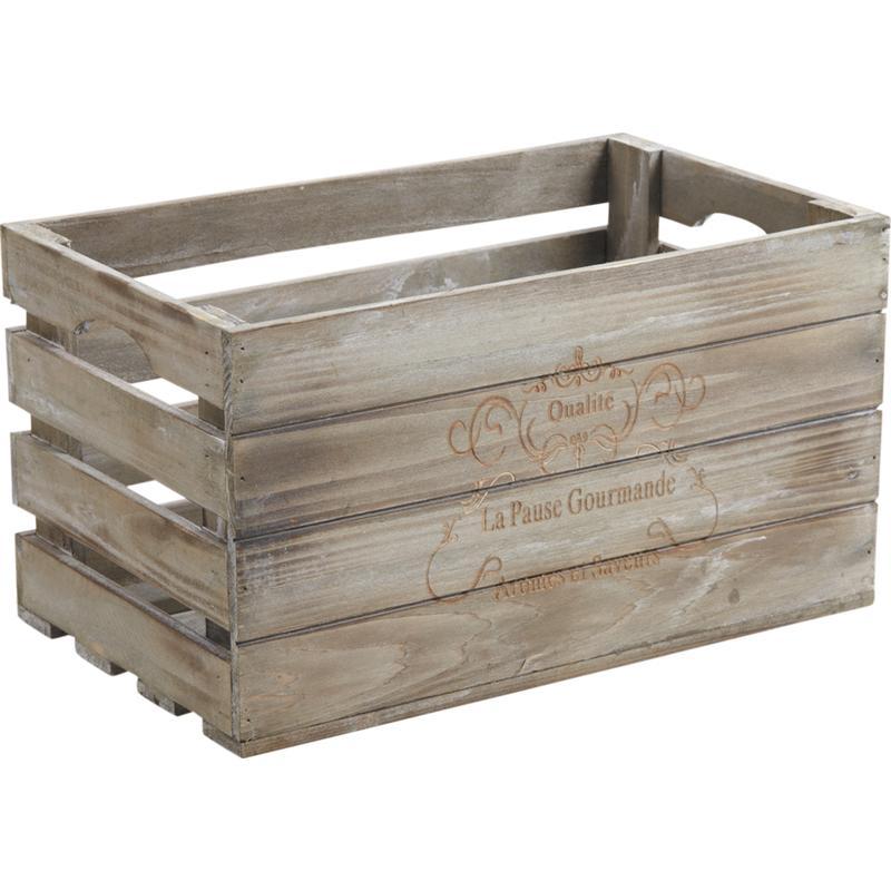 caisse bois patine gris l38 personnalisable 01434v0079981 partir de 25 50 euros ht. Black Bedroom Furniture Sets. Home Design Ideas