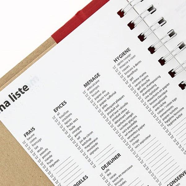 carnet de courses ou bloc notes pour liste des courses personnalis objet publicitaire grossiste. Black Bedroom Furniture Sets. Home Design Ideas