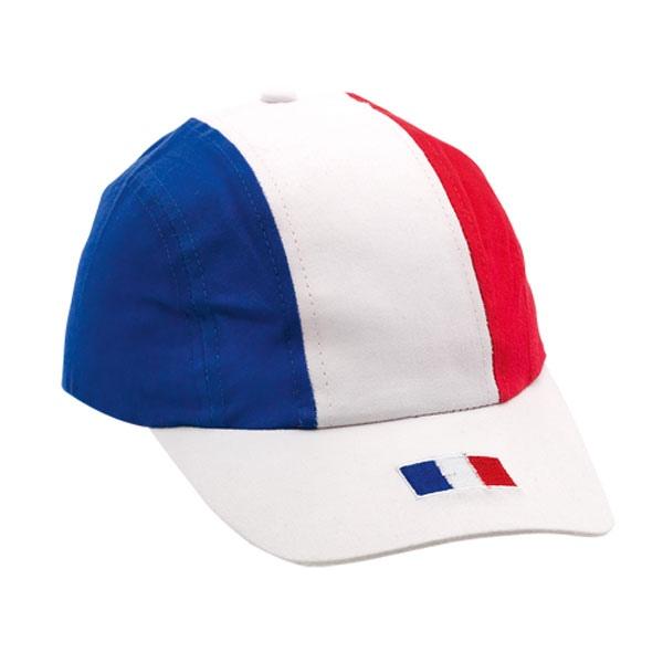 Casquette bleu blanc rouge | casquette publicitaire | 3121 | objet publicitaire