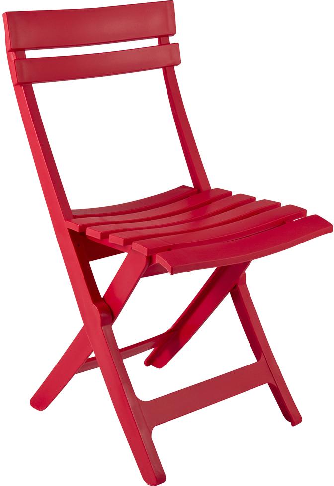 Chaise de jardin pliante miami rouge personnalisable ...