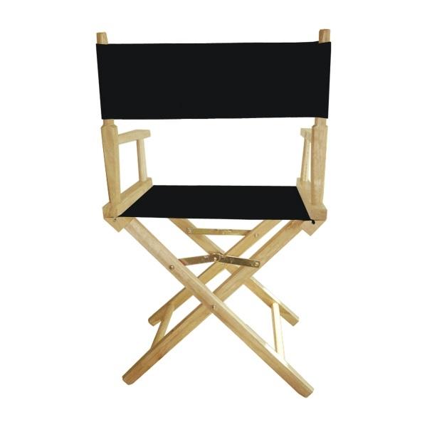 chaise metteur en sc ne noire avec impression quadri. Black Bedroom Furniture Sets. Home Design Ideas