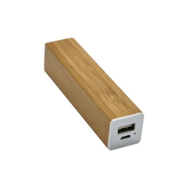 chargeur nomade avec personnalisation 39 bamboo 39 2600 mah 00050v0107453 partir de 10 02 euros ht. Black Bedroom Furniture Sets. Home Design Ideas