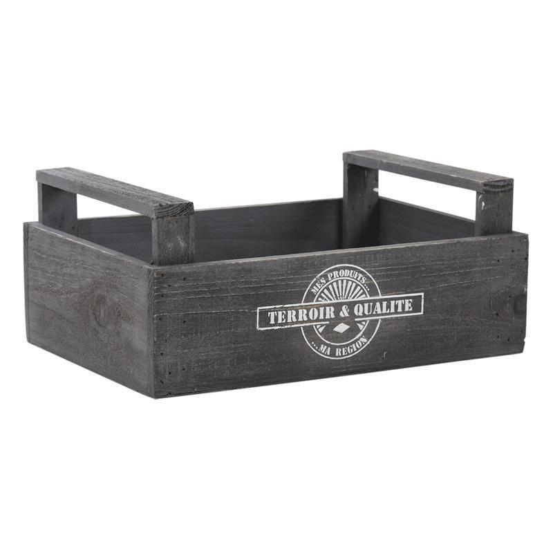 Caisses en bois avec logo