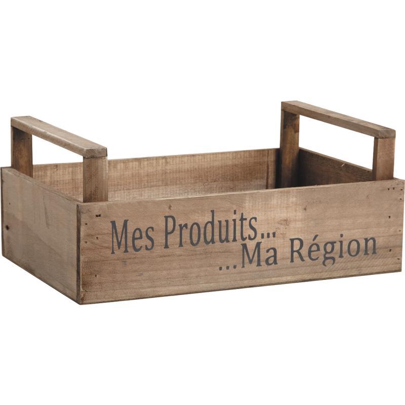 Caisses en bois avec personnalisation