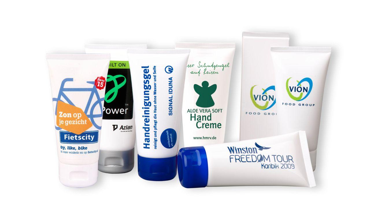 Crèmes pour les mains avec personnalisation