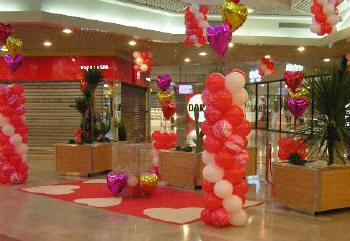 d coration de salles avec des ballons personnalis e cadeau publicitaire grossiste. Black Bedroom Furniture Sets. Home Design Ideas