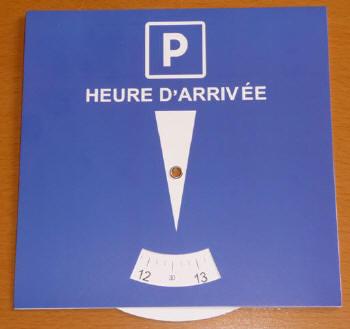disque de stationnement europ en zone bleue personnalisable 00272v0030162 prix 0 45 eur ht. Black Bedroom Furniture Sets. Home Design Ideas