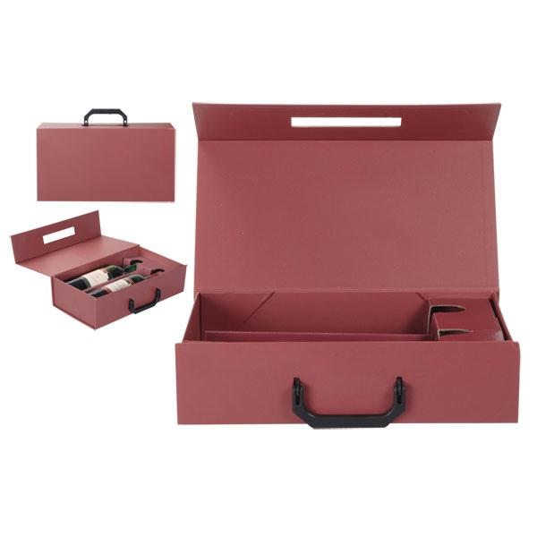 emballage pour bouteilles de vin 2x caisse vin en bois vide publicitaire ap876000. Black Bedroom Furniture Sets. Home Design Ideas
