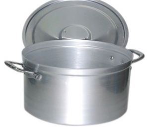 Faitout bas 85 litres couvercle anses alu aluminium 30 Porte couvercle casserole