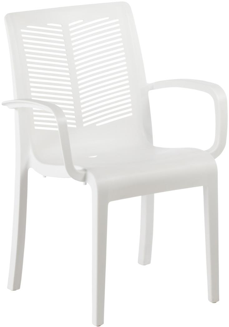 Fauteuil en plastique personnalis avec logo grossiste cadeaux publicitaires - Fauteuil de jardin plastique blanc ...