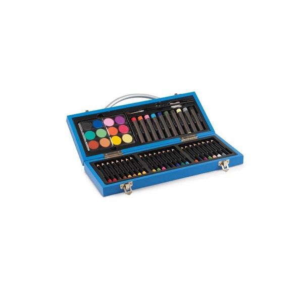 Gallery c coffret bois bleu cadeau publicitaire en vente au prix grossiste gallery c Set de table publicitaire prix