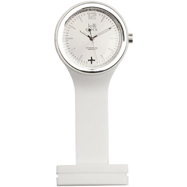Horloge personnalisée  lolliclock-care white silver