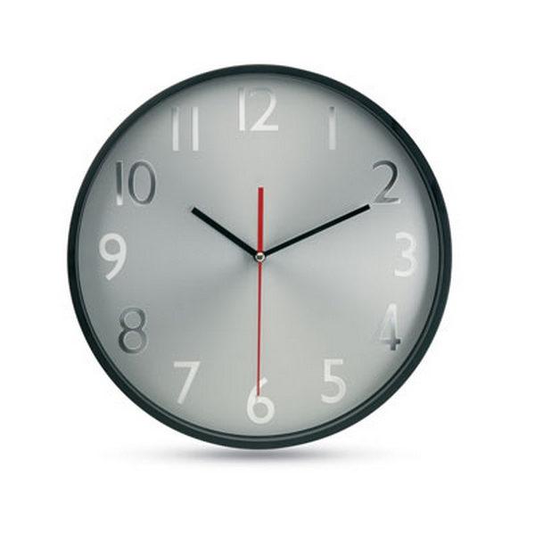 horloge murale avec personnalisation fond argent rondo 00010v0018790 partir de 13 94 euros ht. Black Bedroom Furniture Sets. Home Design Ideas