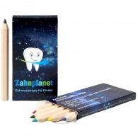 6 pequeños y duraderos lápices de color de promoción