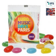 Bonbons en flow pack avec logo