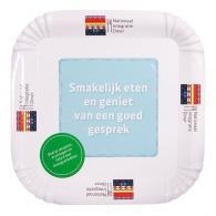 Assiette en carton personnalisée carrée